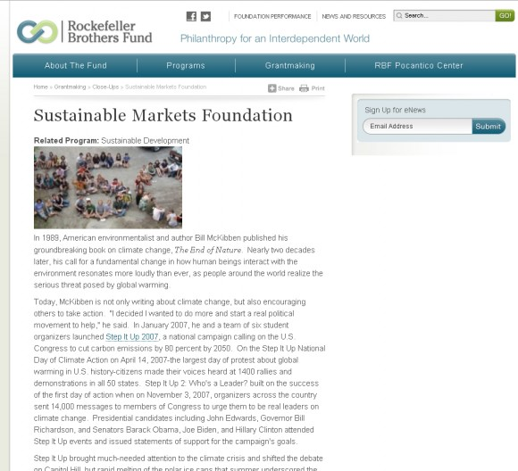 sustainable markets