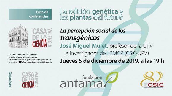 La percepción social de los transgénicos en La Casa de la Ciencia de Valencia.